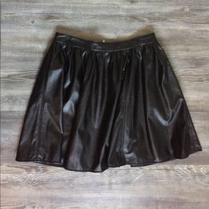 PRICE DROPPED Faux Leather A line skirt